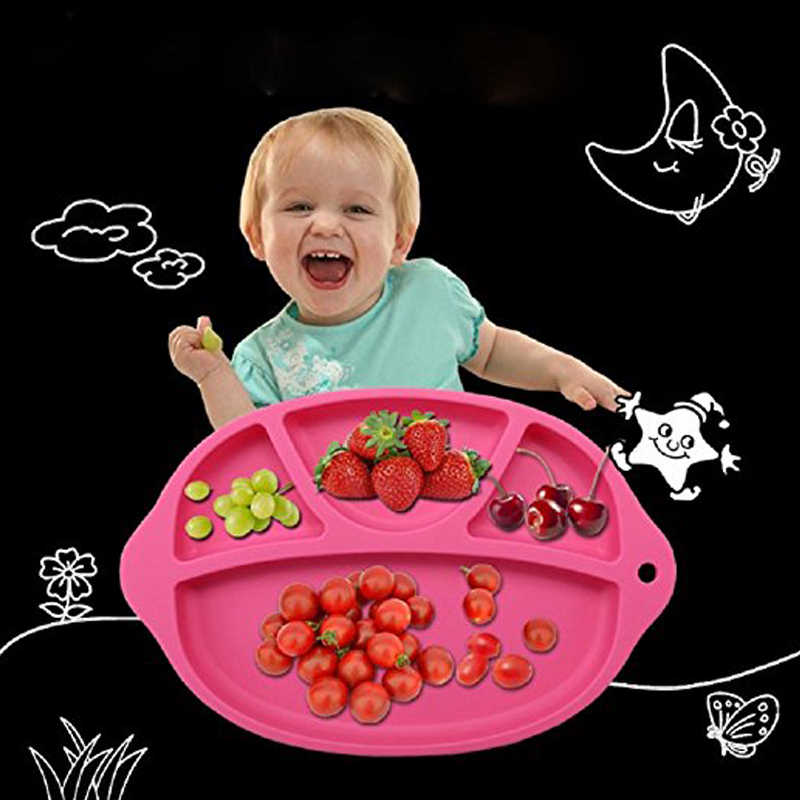 เด็กลื่น One ชิ้นแผ่นซิลิโคนเด็กอาหาร Placemat ชามเด็กจานบนโต๊ะอาหาร