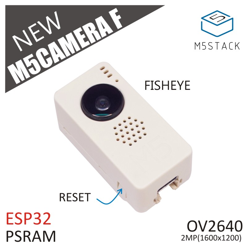 M5Stack New Fish-eye Camera Module OV2640 Fisheye Mini Camera Unit Demoboard With ESP32 PSRAM Development Board GROVE Port TypeC