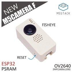 OV2640 M5Stack New Fish-eye Módulo Da Câmera Fisheye Mini Câmera Unidade Demoboard com Placa de Desenvolvimento PSRAM ESP32 Porta BOSQUE typeC