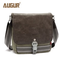 AUGUR Brand Vintage Military Men Messenger Bag Multifunction Canvas Single Mini Shoulder Bags Crossbody Bag Small