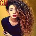 7А Класс Высочайшее Качество Full Lace Человеческих Волос Вьющиеся Wigs130 % Бразильский Фронта Шнурка Wigs1b/33 Ombre Человеческих Волос бразильские Парики Babyhair