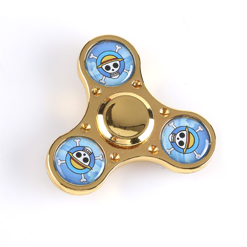 Fidget Spinner One Piece Monkey D Luffy Skull Head Hand Spinner EDC ADHD Finger Spinner Decompression