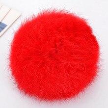 8CM Real Rabbit Fur Ball Pompom Fluffy Bunny Keychain Key Ring Cute Anime Pom Pom Key Chain Porte Clef For Women Bag Charm Toys