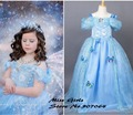 EMS DHL Free Cinderella Summer Style Little Girls Princess Party Dresses Limited Edition Ice Queen Ballgown Luxury Halloween