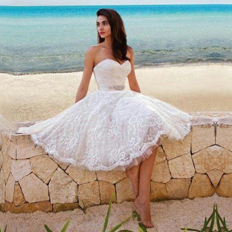 2015 elegante novia sin mangas con cuentas sash apliques rodilla