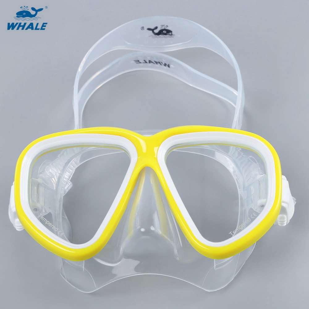 HOT Whale Unisex Water Sports Snorkeling Equipment Swimming Diving Mask With Multi Color