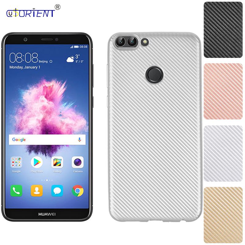 Carbon Fiber Case for Huawei P Smart Enjoy 7S CN FIG-AL00 FIG-AL10 al00 Back Cover for Huawei Enjoy 7S 7 s Silicone Case 5.65