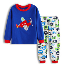 Baby Boy Clothes Pajamas Kids spring autumn winter Children Set  Boys Cartoon Long Sleeve Aircraft Cotton