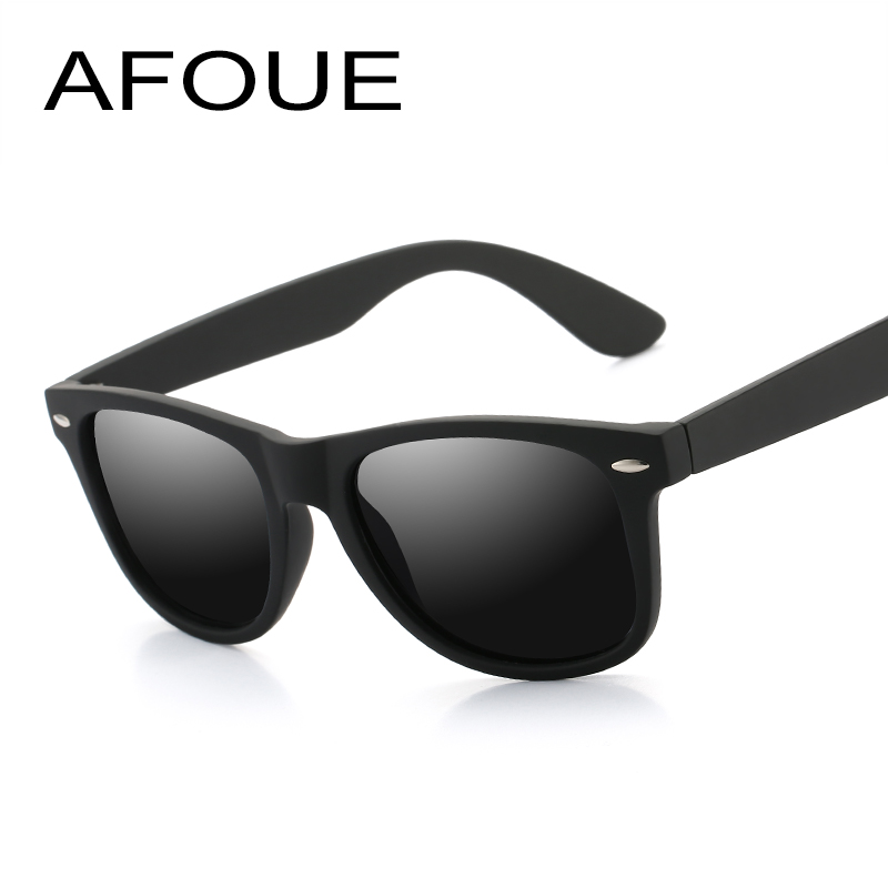 AFOUE Classic Sunglasses Women Polarized glasses Men Driving Mirrors Black Frame Eyewear Male Sun Glasses UV400 Oculos