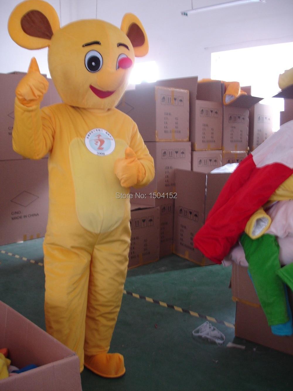 Souris jaune mascotte Costume adulte personnage Costume Cosplay mascotte costume livraison gratuite