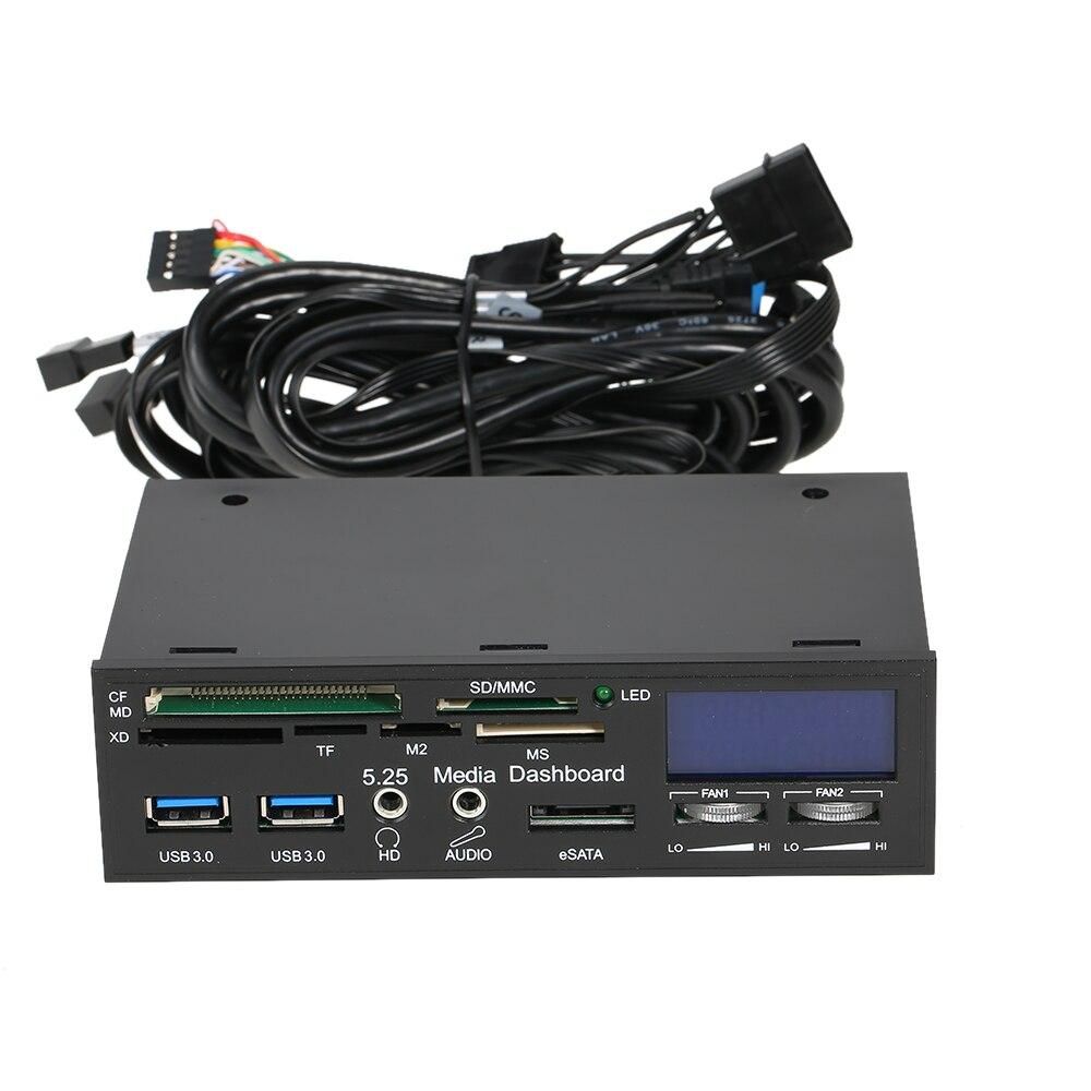STW Multi-Fonction USB 3.0 Hub eSATA Port lecteur de cartes Interne Système régulateur de vitesse de ventilateur avec uc pour XD CF SD et Mémoire carte