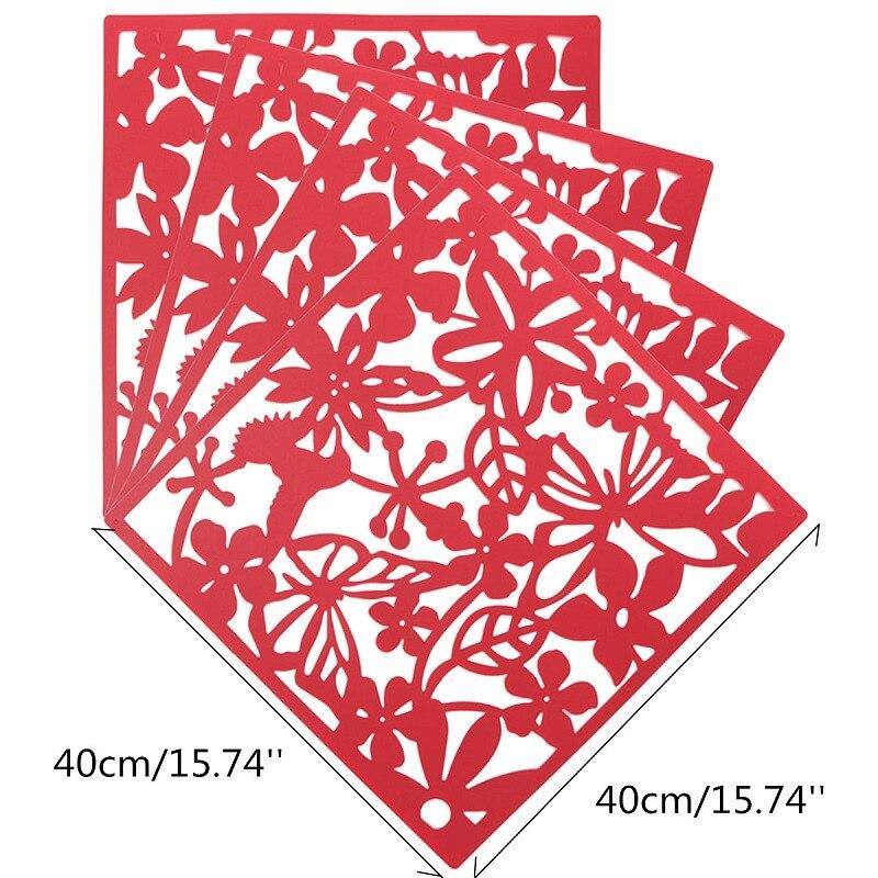 4 шт. цветок обои Стикеры висит Экран Шторы перегородкой раздела Новый Feshion украшения дома