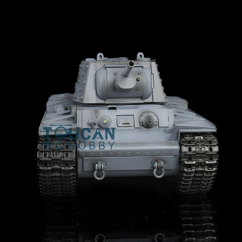 цена HengLong 1/16 Scale Gray Russian KV-1 RTR RC Tank Upgraded Metal Version Tracks Sprockets Idlers 3878