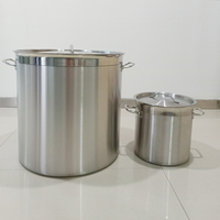 Commercial New Deep Large Stainless Steel Stock Pot Cater Stew Soup Boiling with handles and lid