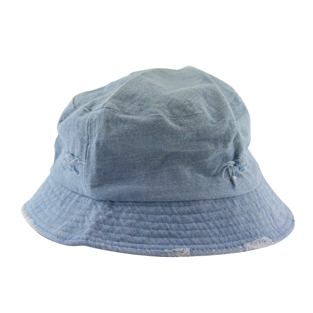 Casual Denim Jean Fishing Bucket Hat Packable Cap-in Fishing Caps ... 0b12aa51e09