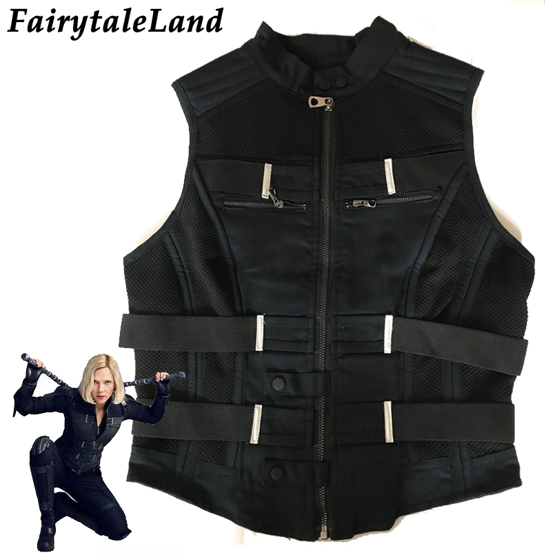 Black Widow Vest superhero Avengers Infinity War Black Widow Cosplay Vest Carnival Halloween costumes custom made