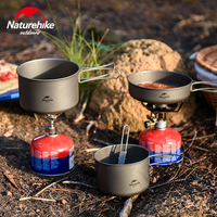 Naturehike New Titanium Pot Bowl Outdoor Camping Titanium Water Cup Mug Ultralight Portable Picnic Cup Hiking Tableware