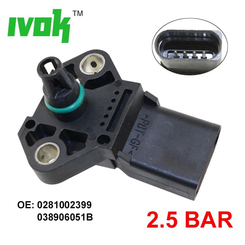 2.5 Bar MAP Sensor Manifold Absolute Turbo Intake Air Boost Pressure Cheap Map Sensors on