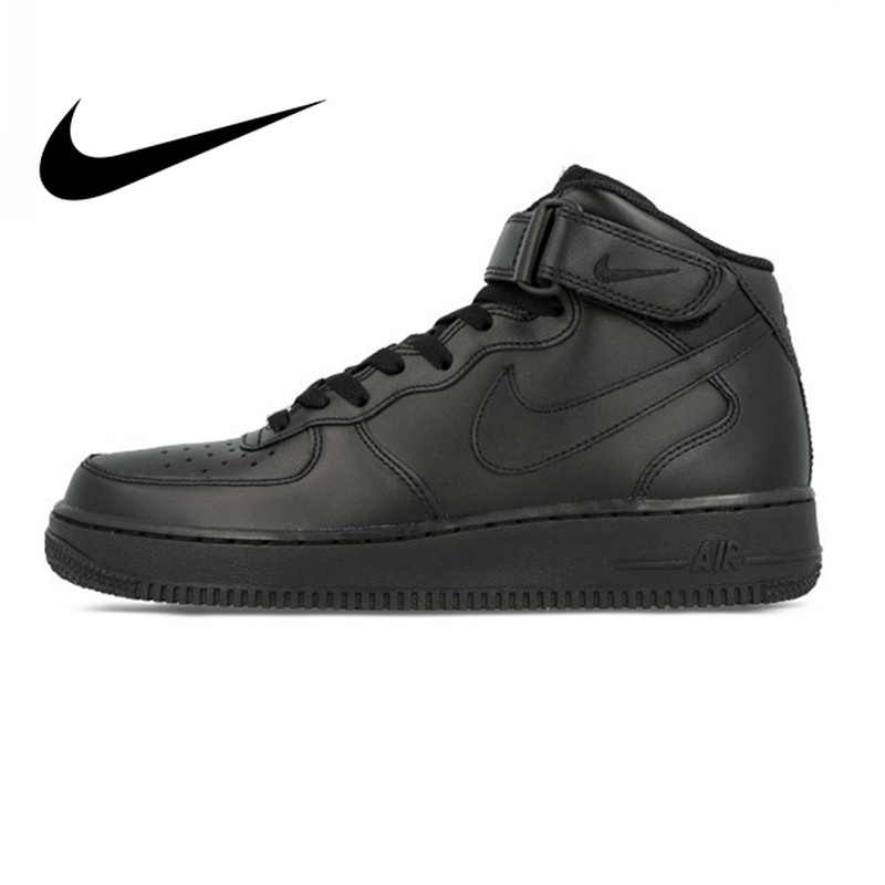 reputable site 9892b 1fd20 Nike Air Force 1 AF1 Original Official Breathable Men's Skateboarding Shoes  Sports Sneakers Classique High Flat
