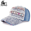 High quality JoyMay Hat Cap Fashion Leisure Star Cap Rhinestones Jean Cotton CAPS Skull Pearl Baseball Cap B194