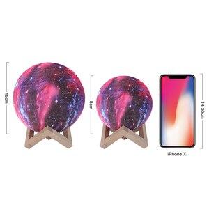 Image 4 - Coquimbo 16 色 3D 印刷ムーンランプとリモコン星空銀河に内蔵された充電式バッテリーの夜ランプ