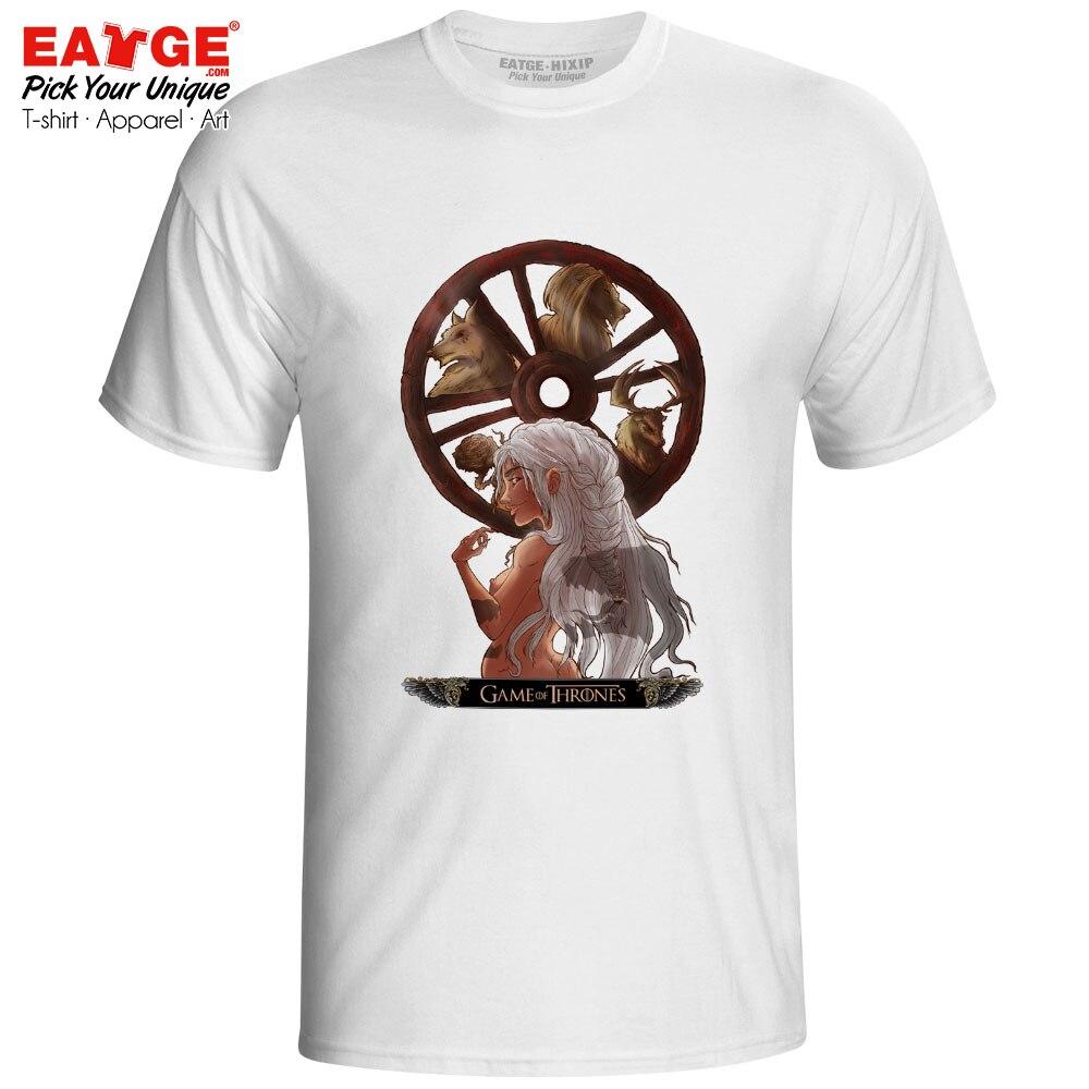 Game Of Thrones T Shirt TV Drama Daenerys Targaryen Tshirt Casual Pop Stormborn Mother of Dragons T-shirt Unisex Men Women Tee Футболка