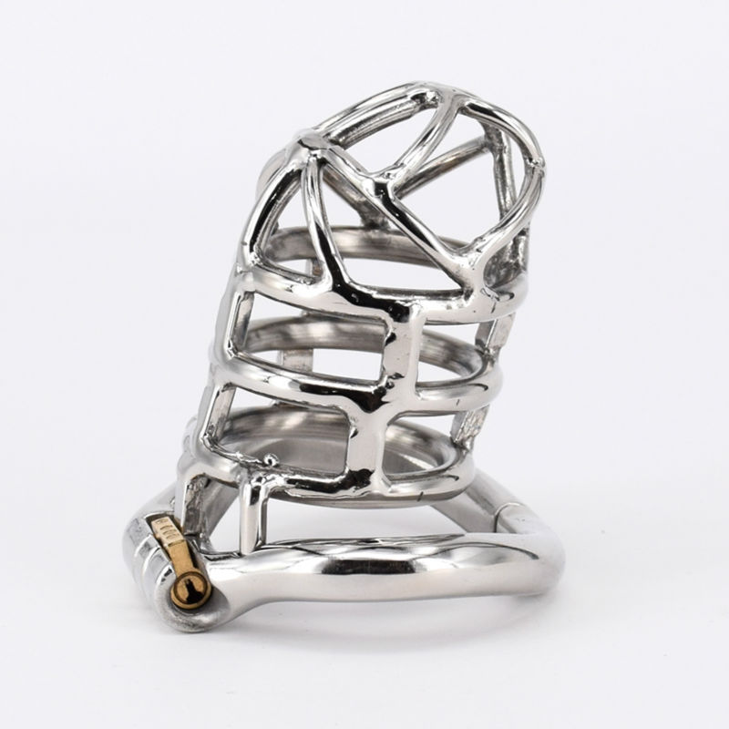 Extreme Confinement Chastity Cage Male Stainless Steel Chastity Device Metal Cock Cage Penis Lock Sex Toys For Men sex shop small male penis confinement chastity cage metal cock ring cockring chastity belt toy sex toys for men free shipping