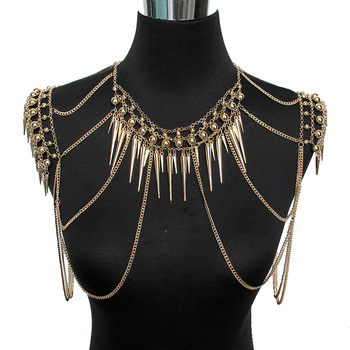 Shoulder Necklace Multi Layered Sexy Seabeach6