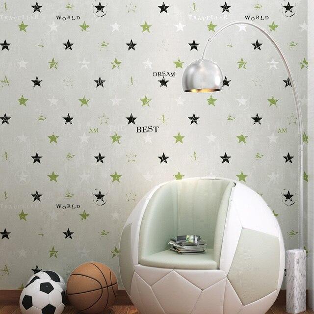 Kinderkamer Behang Jongen Slaapkamer Mooie Warm Cartoon Meisje Prinses Kamer Puur Papier Milieubescherming Star Muur Papier