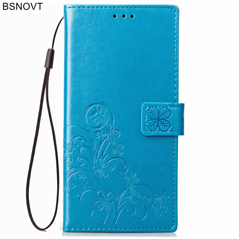 For OPPO A5 Case Soft Silicone Luxury PU Leather Card Holder Anti knock Case For OPPO A5 Cover For OPPO A5 Phone Bag Case BSNOVT in Flip Cases from Cellphones Telecommunications