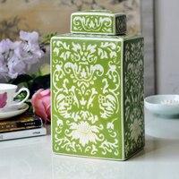 Новый китайский классический живопись керамика квадратный горшок фарфоровый модный домашний интерьер Кабинет декоративные фарфоровые ук