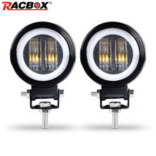 New 7D 3 20W Fog Lamps Off road Led Working Lights Headlight For The Beam Motorcycle Halo Jeeps ATV 12V 24V SUV Worklight Car