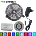 RGB LED Strip 3528SMD 5M 2835 Flexible Light  Ledstrip 12V Ribbon Diode Tape+RF Touch Remote controller+2A Adapter EU/US