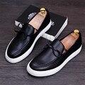 Человек Подлинной Кожаные Мокасины мужская Мода Повседневная Квартиры Марка Дизайн Белый Черный Мужские Вождения Обувь Мягкое Дно Кожаные Ботинки