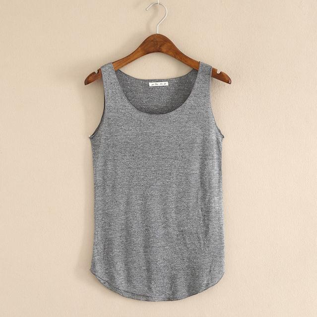 Tank Top sleeveless Round Neck Loose Singlets Vest Crop Top Summer Women Solid Tops Womens Clothing Camisole 18JUN13