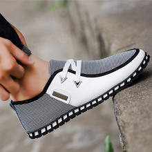 Fashion white shoes men Casual Shoes basic Lace up Driving Shoes Men trainers Breathable sneakers Zapatillas Hombre Size 38-47