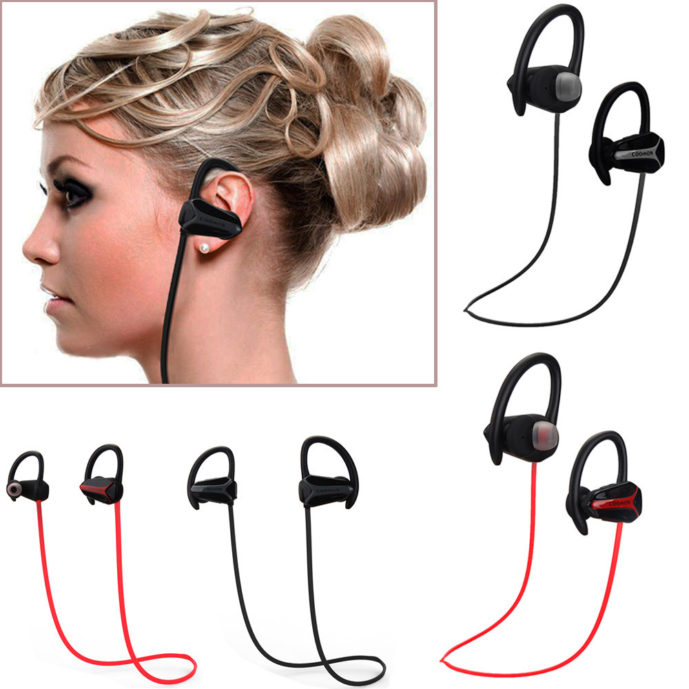 2017 Noise Canceling Headphone Bluetooth 4.1 Wireless Earphones Stereo Sports Hands free Headsets earbuds Mobile phone - Shenzhen Malloom Technology Co., Ltd. store