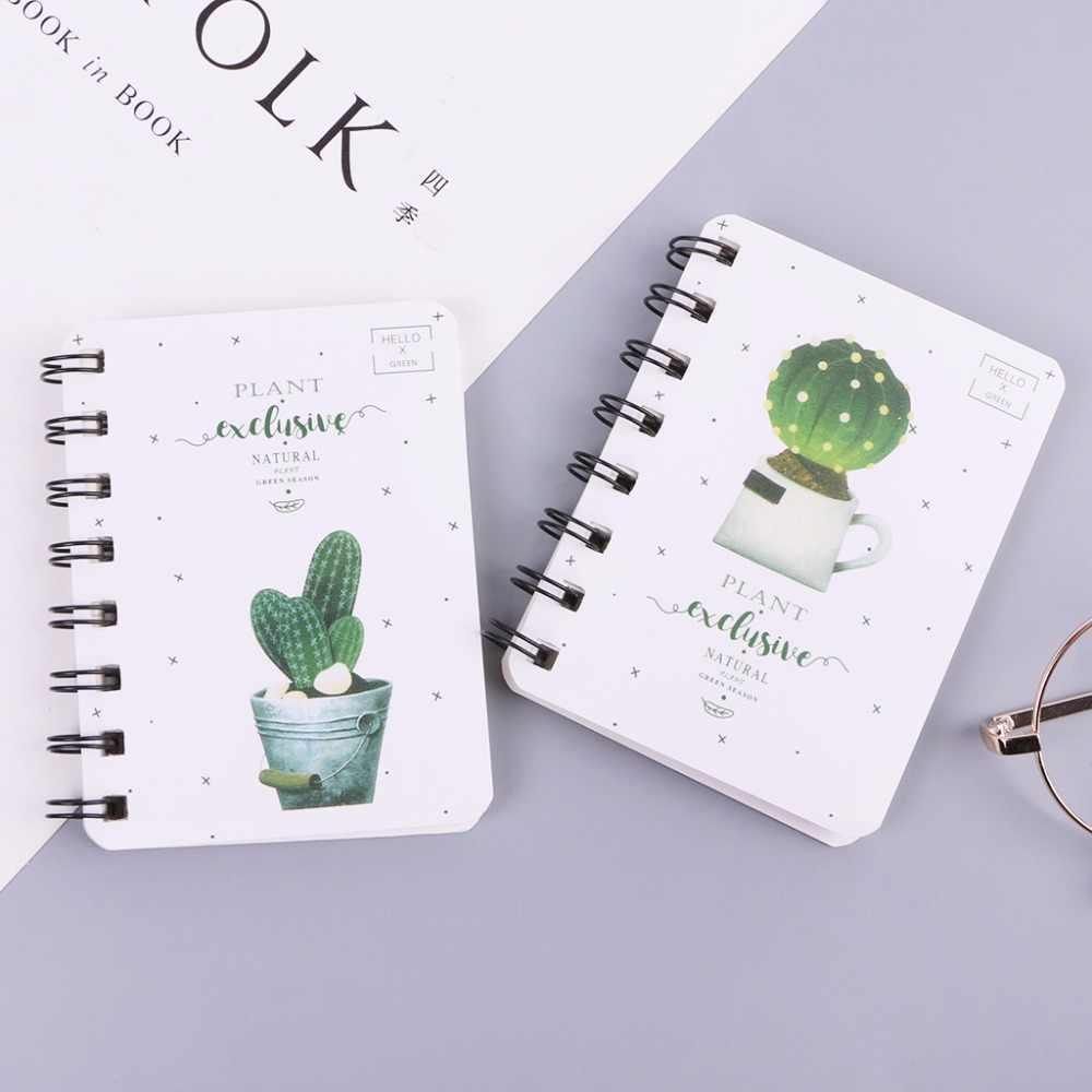 Lucu Kaktus Harian Alat Kantor Perencana Spiral Notebook Diary Notepad Memo Pad