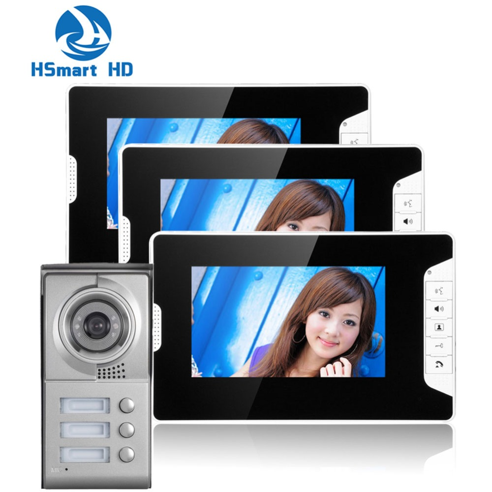 New Apartment Wired Video Door Phone Audio Visual Intercom Entry System