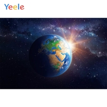 Yeele Earth Planet Universe Nebula Children Photographic Backgrounds Boy Birthday Party Photography Backdrop for Photo Studio
