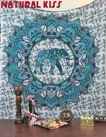 2017 New Indian Elephant Mandala Home Tapestry Wall Hanging Tapestries Boho Bedspread Beach Towel Yoga Mat Blanket Table Cloth