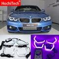 WIFI RGB متعددة اللون M4 مبدع نمط LED كريستال الملاك العين طقم إضاءة ل BMW M3 M4 E80 E82 F22 f32 F30 زينون سيارة التصميم