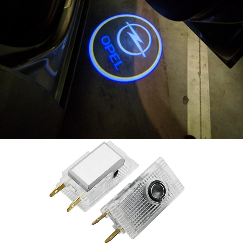 2X Car LED Door Welcome Logo Laser Projector Ghost Shadow Light For Opel Insignia Opel Logo Lights Opel Logo Led Lights