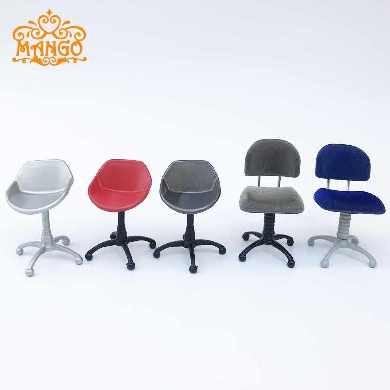 1//12 Revolving Chair Tulip Chair Miniature Chair Computer Chair for Dollhouse