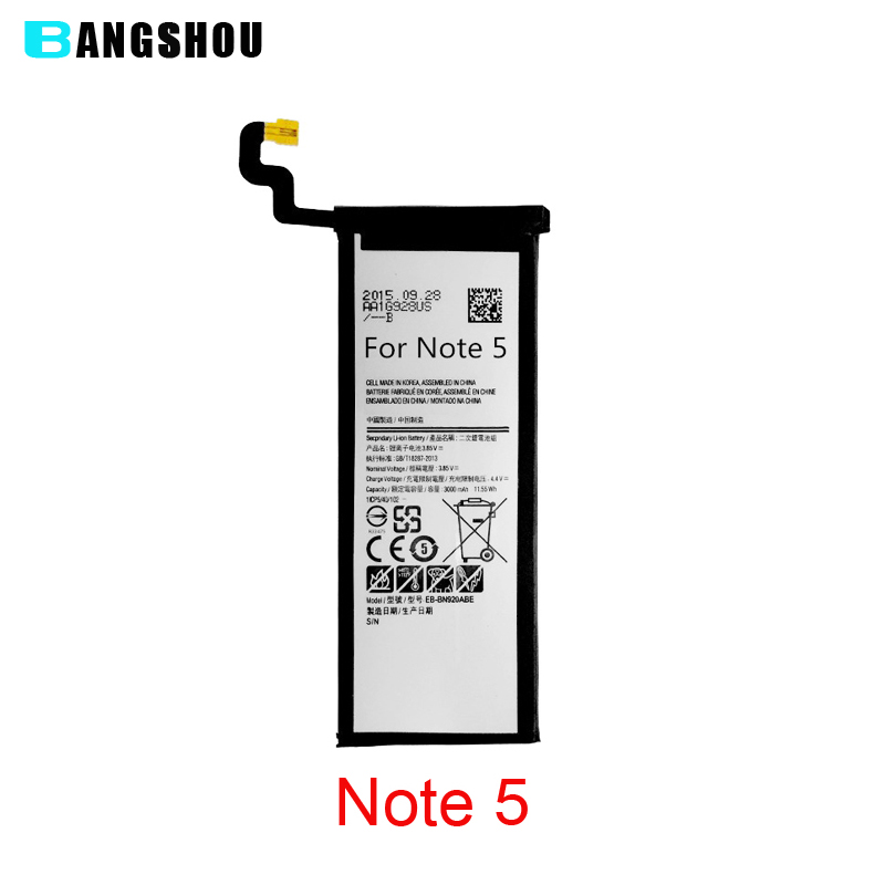 EB-BN920ABE Replacement Battery For Samsung GALAXY Note 5 N9200 N920t Project Noble 3000mah 100% Original New