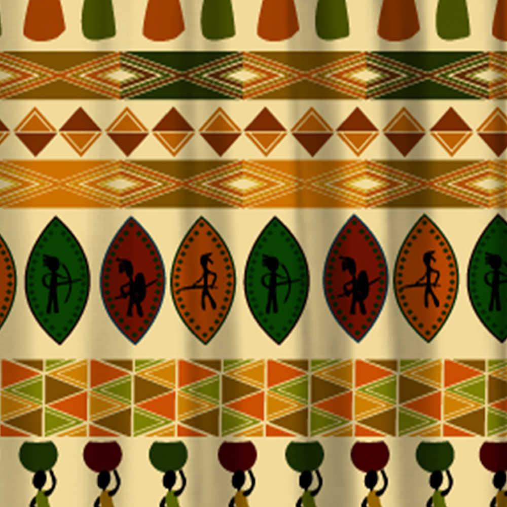 ثقافة miracille الأفريقي العرقية البوهيمي نمط البوليستر للماء دش الستار ديكور المنزل للحمام 12 السنانير