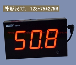Подлинный бар большой цифровой трубки большой экран стены шум метр звук размер тестер дБ метр WS844