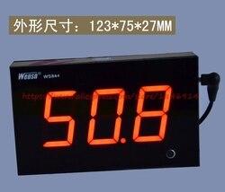 Echt bar grote digitale buis Groot scherm muur geluidsmeter size tester DB meter WS844