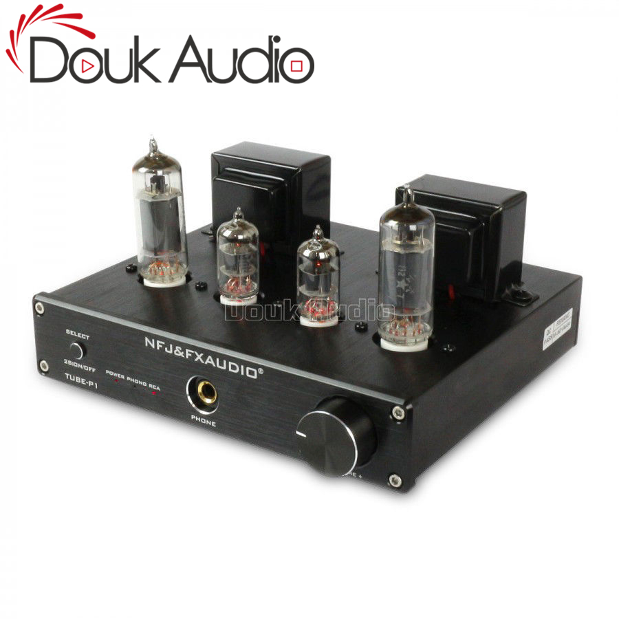 Douk Audio 6J1 + 6P1 Stereo Vacuum Tube Amplifier with Phono MM Input Class A Single-Ended Integrated AmplifierDouk Audio 6J1 + 6P1 Stereo Vacuum Tube Amplifier with Phono MM Input Class A Single-Ended Integrated Amplifier