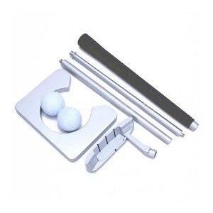 Image 2 - Portable Travel Indoor Golf Putting Practice Kit Ball  Aluminum Alloy Golf  Putting Training  Set